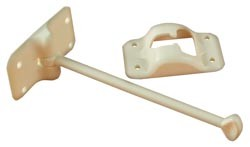 Rv Entry Door Holder Colonial White 6 inch