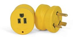 Power Grip Electrical Adapter - 30 Amp Male to 15 Amp Female