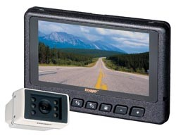 Video Monitor; 7 Inch; LCD Display; 3 Camera Inputs; With Built-In Audio; With 75 Foot Cable