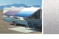 Rv Awning Vinyl Canopy Replacement, 14 ft, Silver Fade